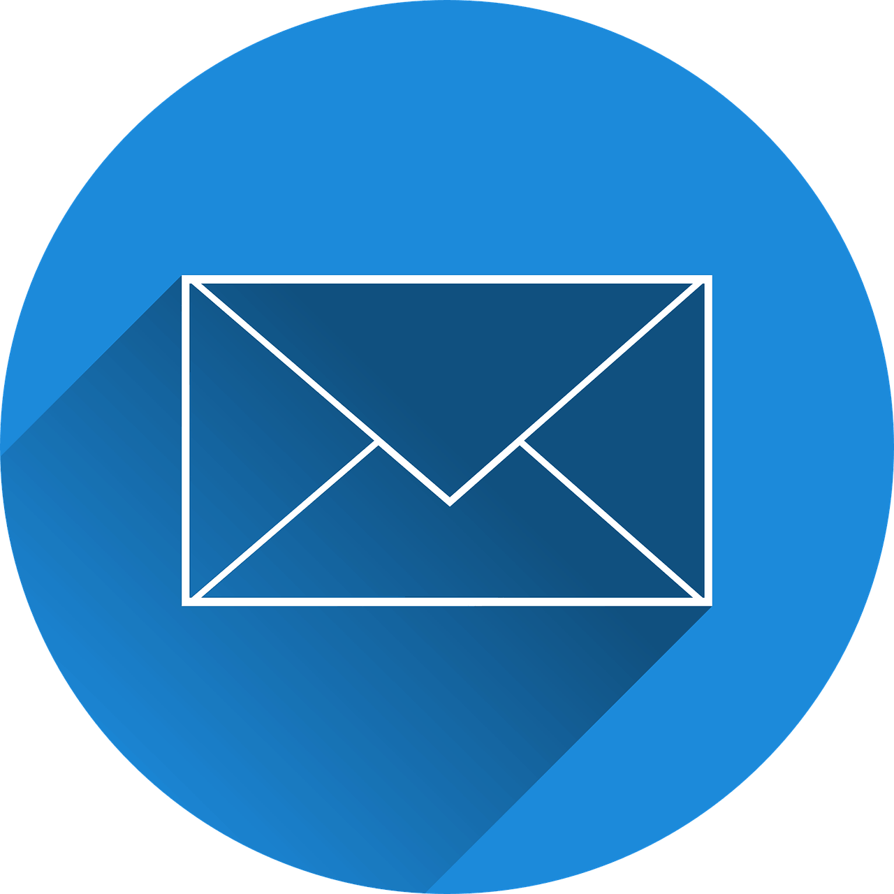 Circle with envelope icon